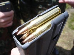 5.56x45 NATO Cartridge filled with bullets
