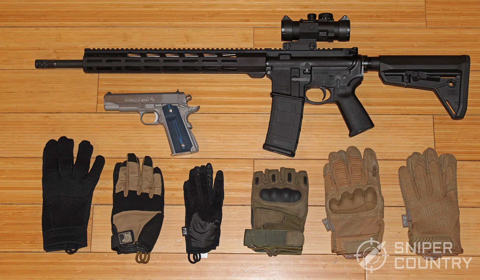 Best shooting gloves and AR-15 Pistol