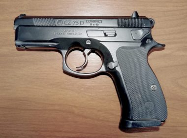A close up view of the CZ 75 Compact