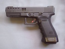 A close up view of the Glock 20
