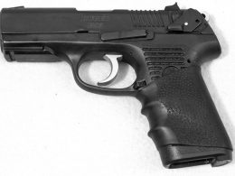 A close up shot of the Ruger P95