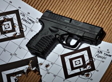 A close up view of the Springfield XDS
