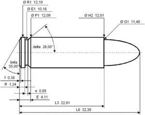 .45 ACP Ammo dimensions