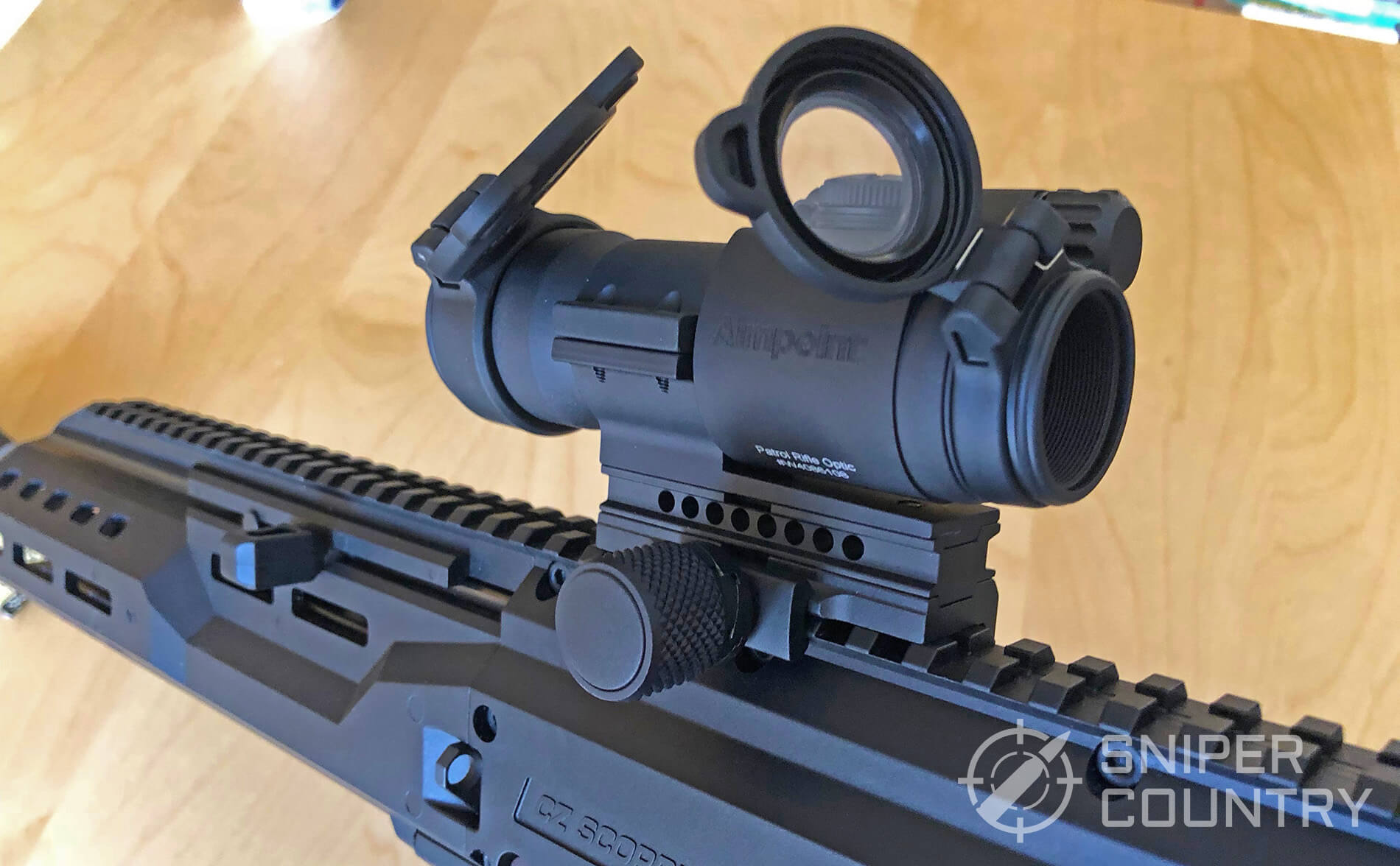 Aimpoint Pro mounted left side