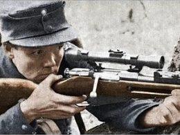 Finnish sniper using Mosin Nagant