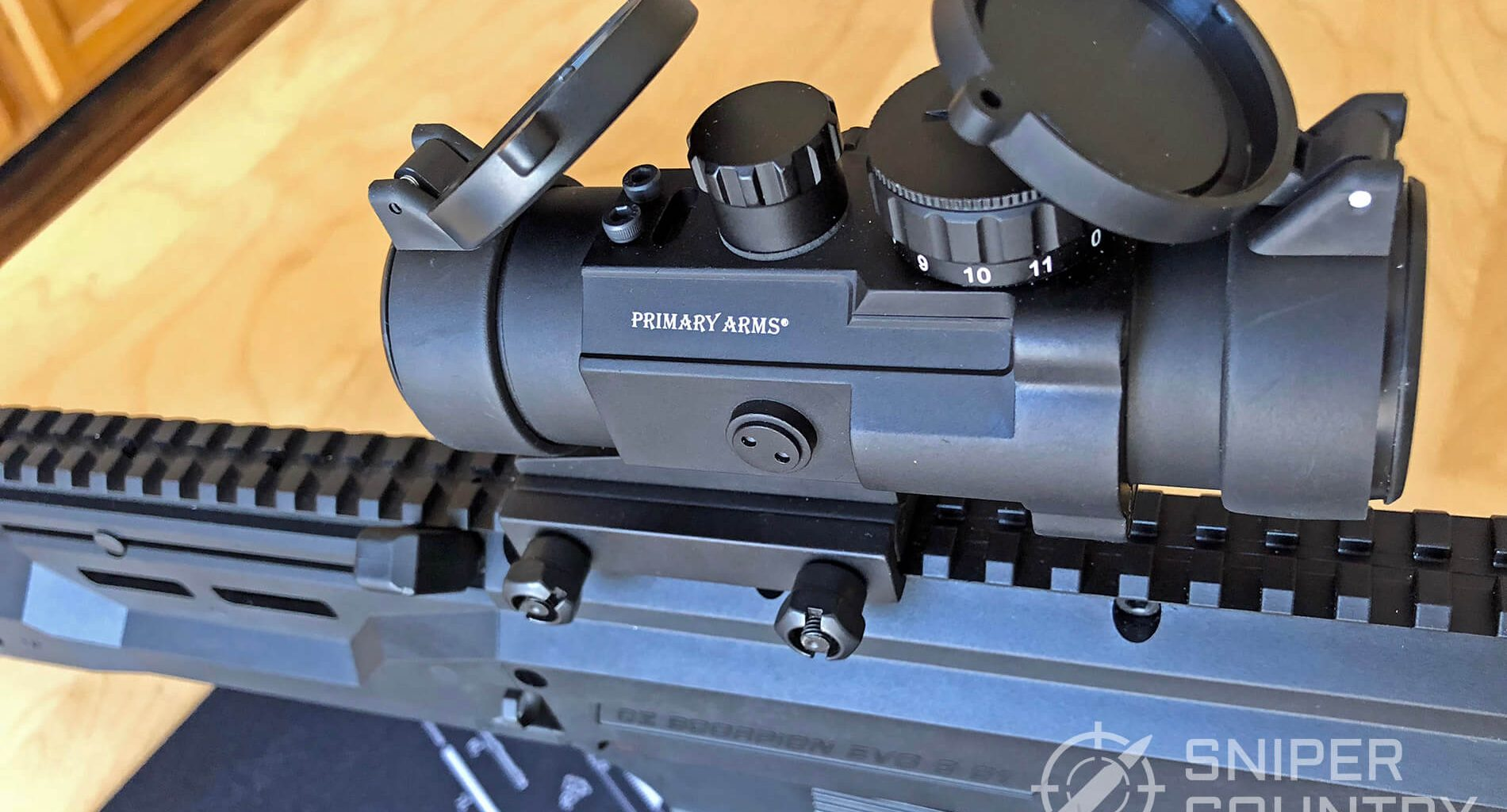 Primary Arms 2.5x with open covers
