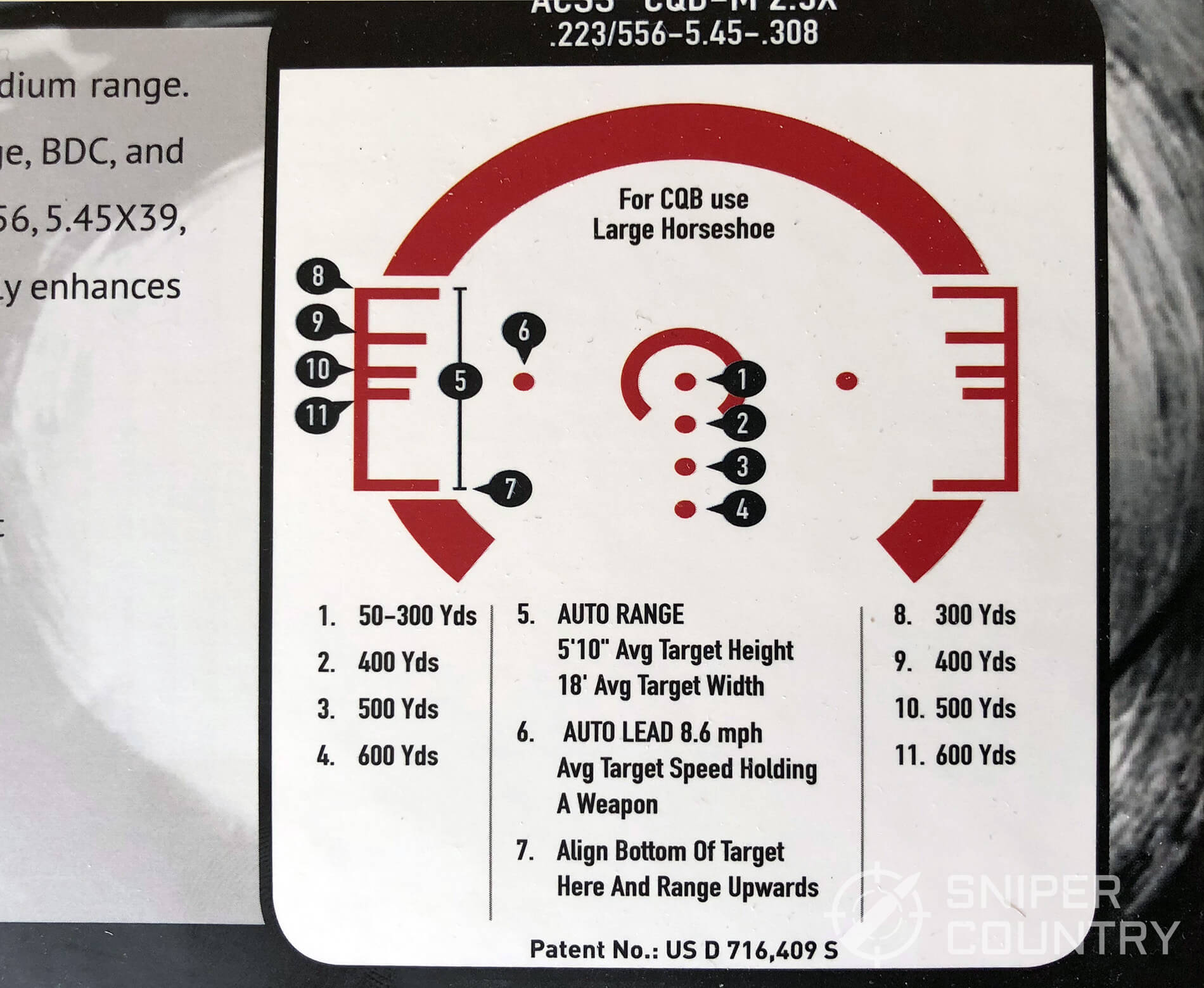ACSS CQB-M Reticle instructions