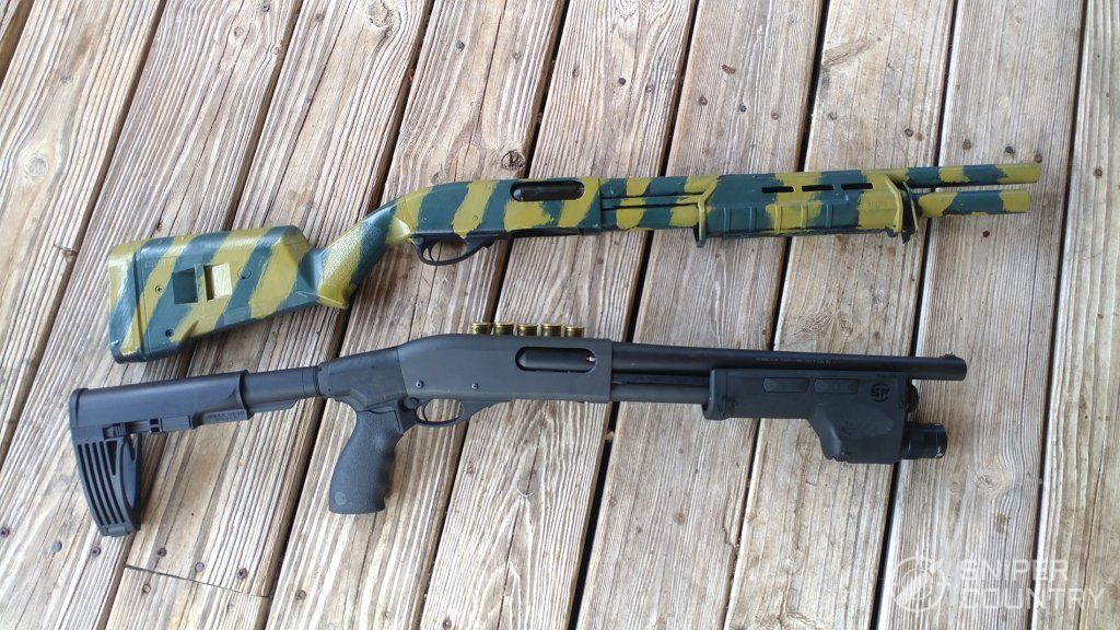 Remington 870 sprayed