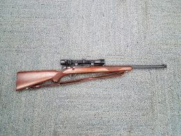 Close up shot of the Ruger M77 shot by DocHawk44