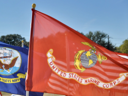 United States Navy and United States Marine Corps flags