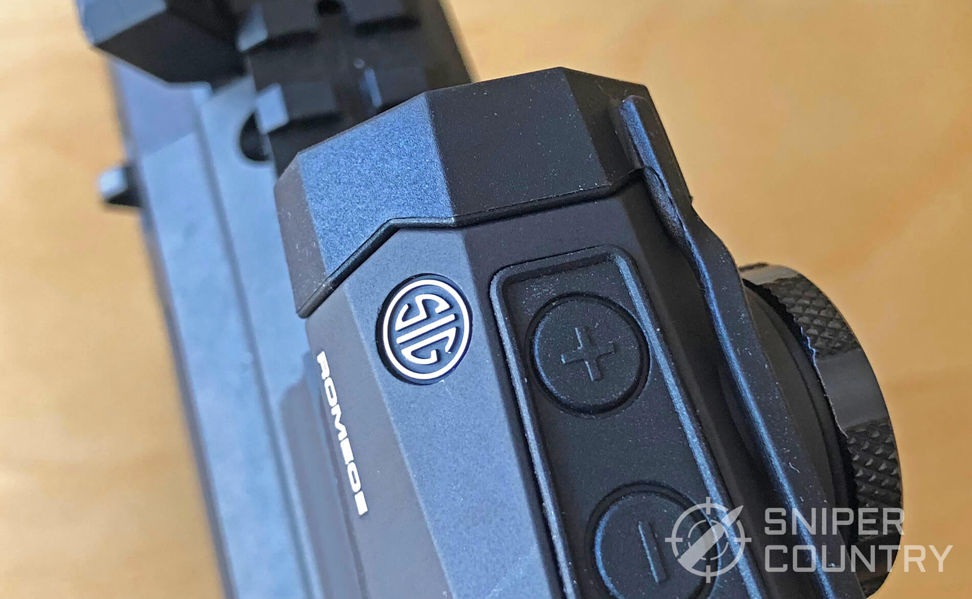 Sig Sauer Romeo 5 close-up on buttons