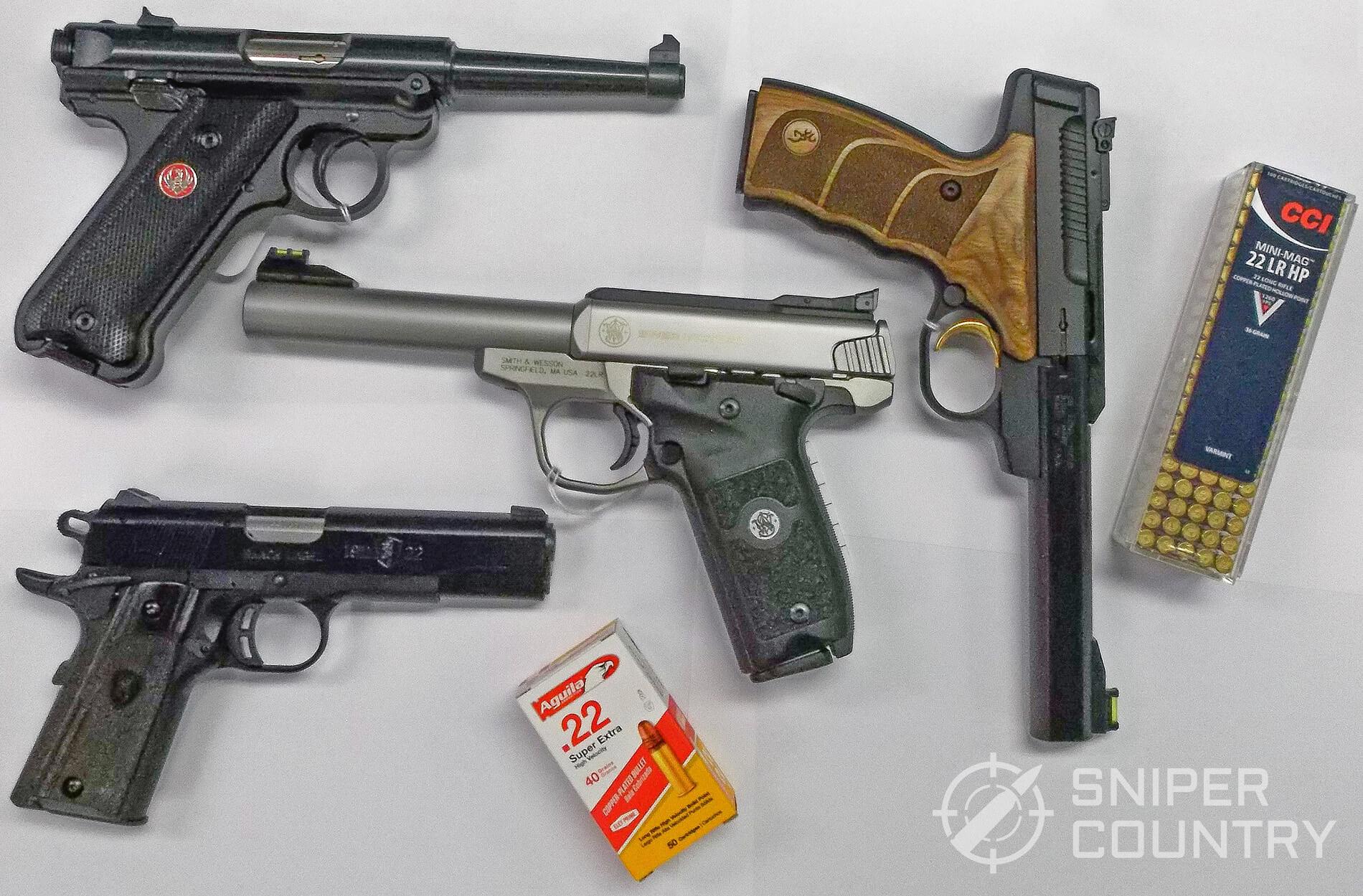 22 LR Pistols and Ammo