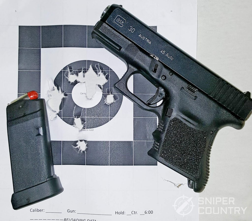 Glock 30 with target