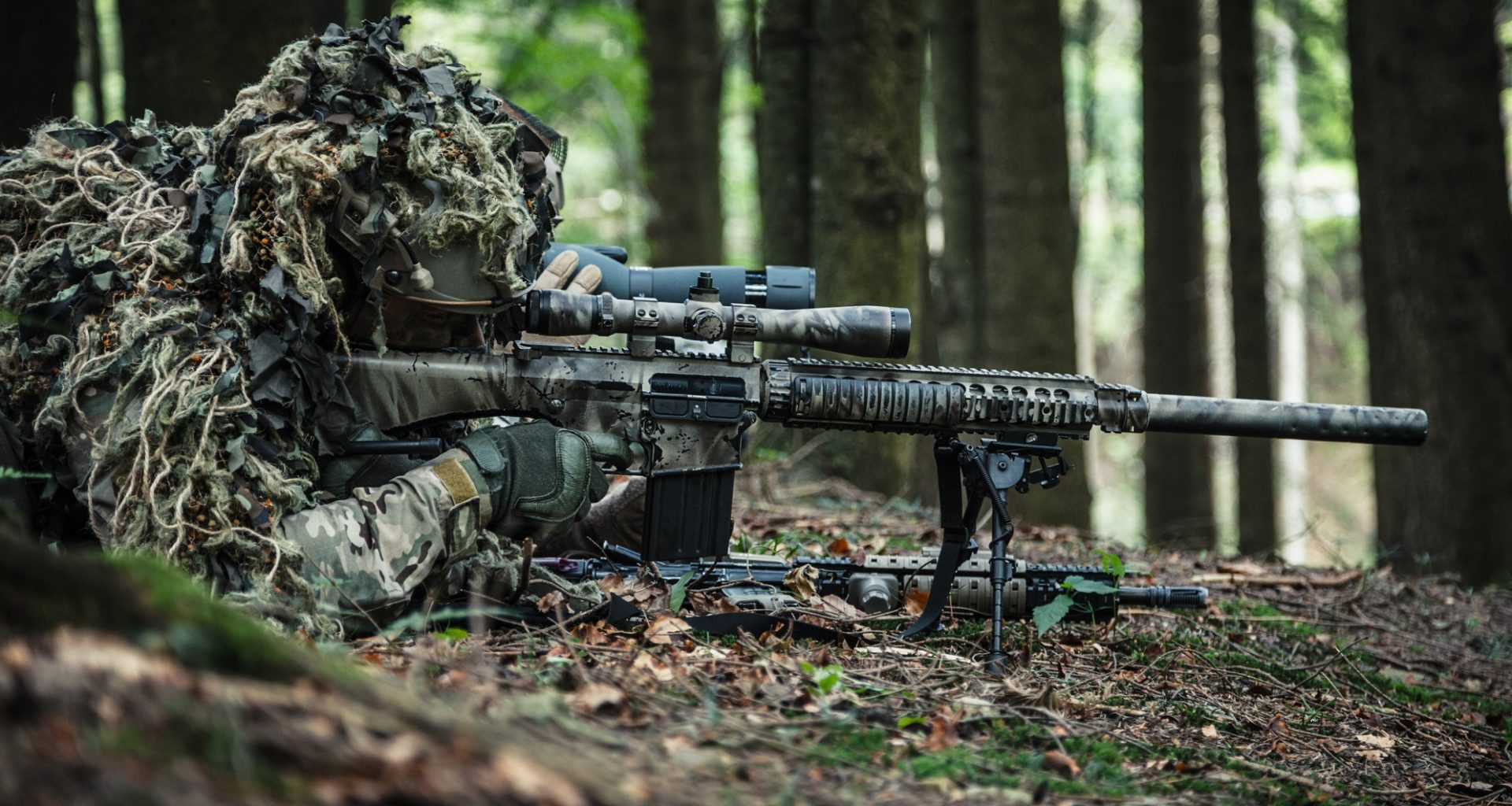 camouflage a rifle