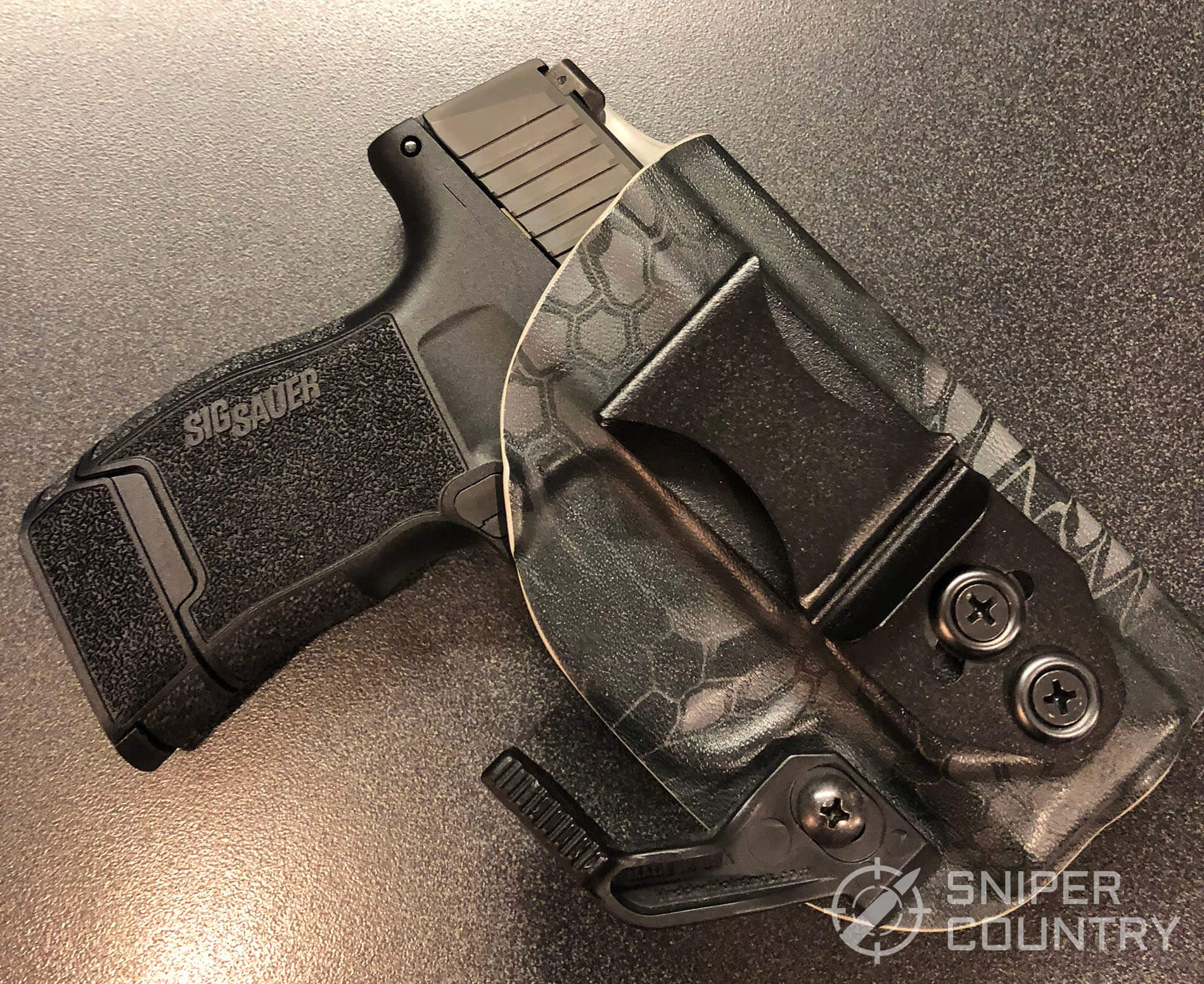 SIG P365 in holster