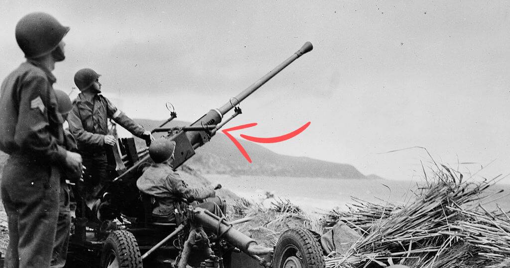 Swedish Bofors 40mm anti-aircraft gun