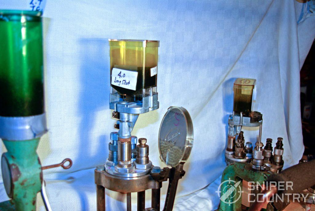 Lee powder measure mounted
