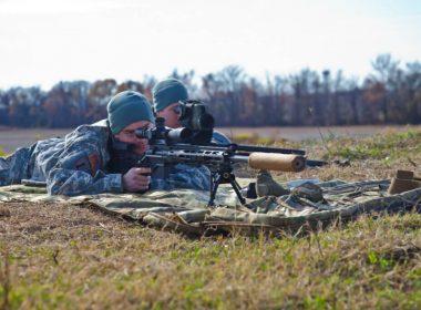 .300 Win Mag Rifle on the range
