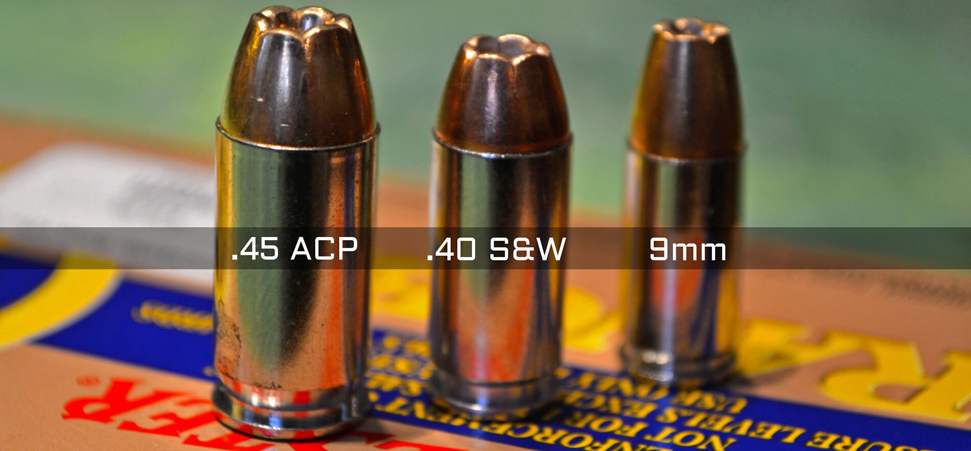 9mm vs .40 vs .45 ACP ammo