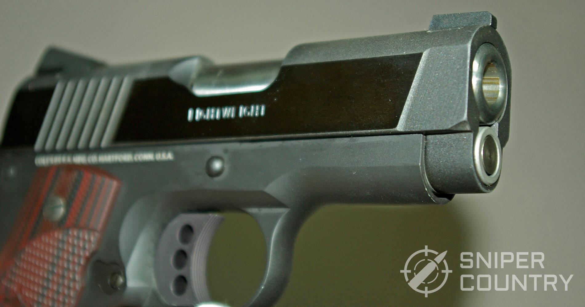 Colt Defender Muzzle and Slide