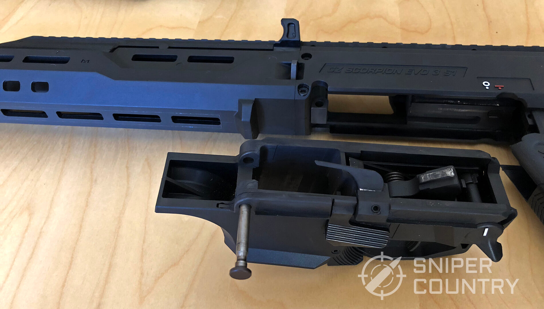 Disassembled CZ Scorpion Evo 3 S1 Carbine