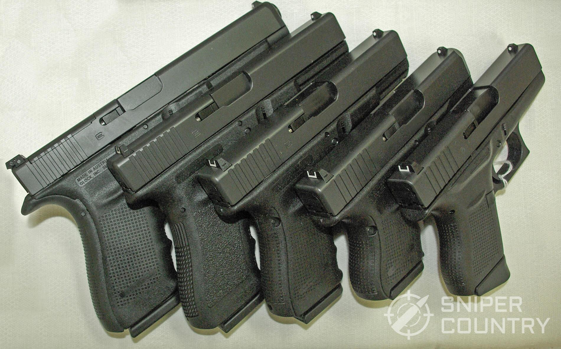 Glock 17 vs Glock 19 vs Glock 26 vs Glock 41 vs Glock 43 WM