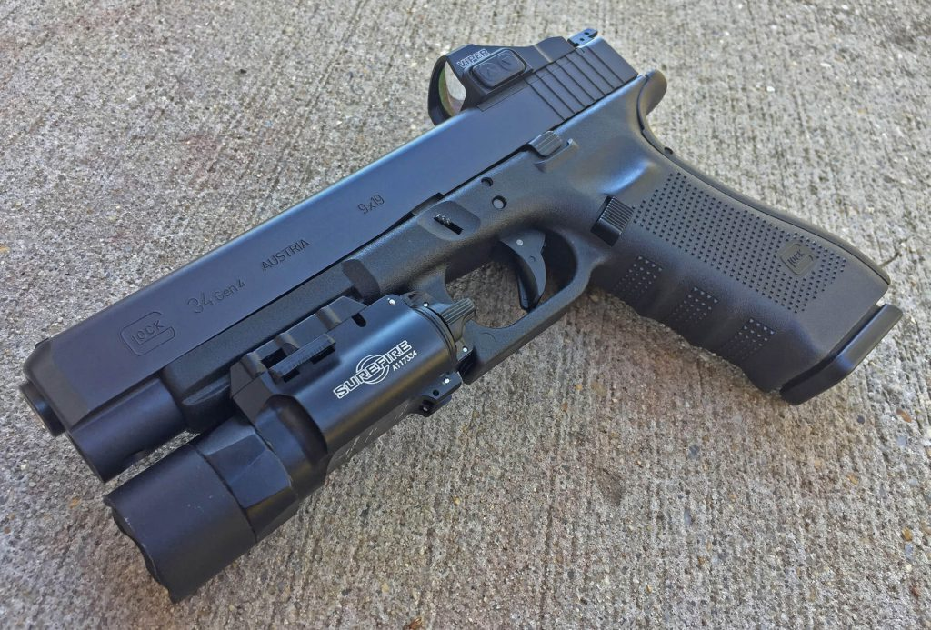 Glock 34 Gen 4 with accessories
