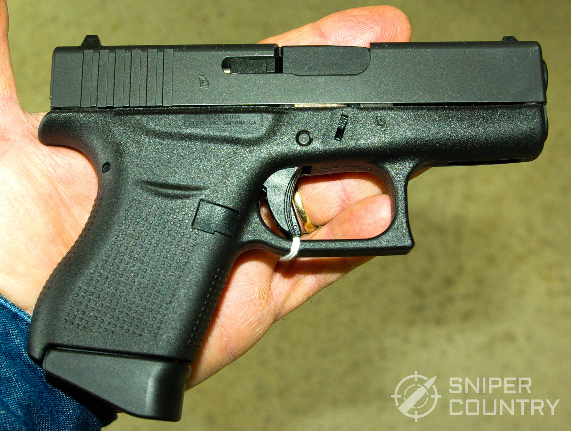 Glock 43 9mm in hand