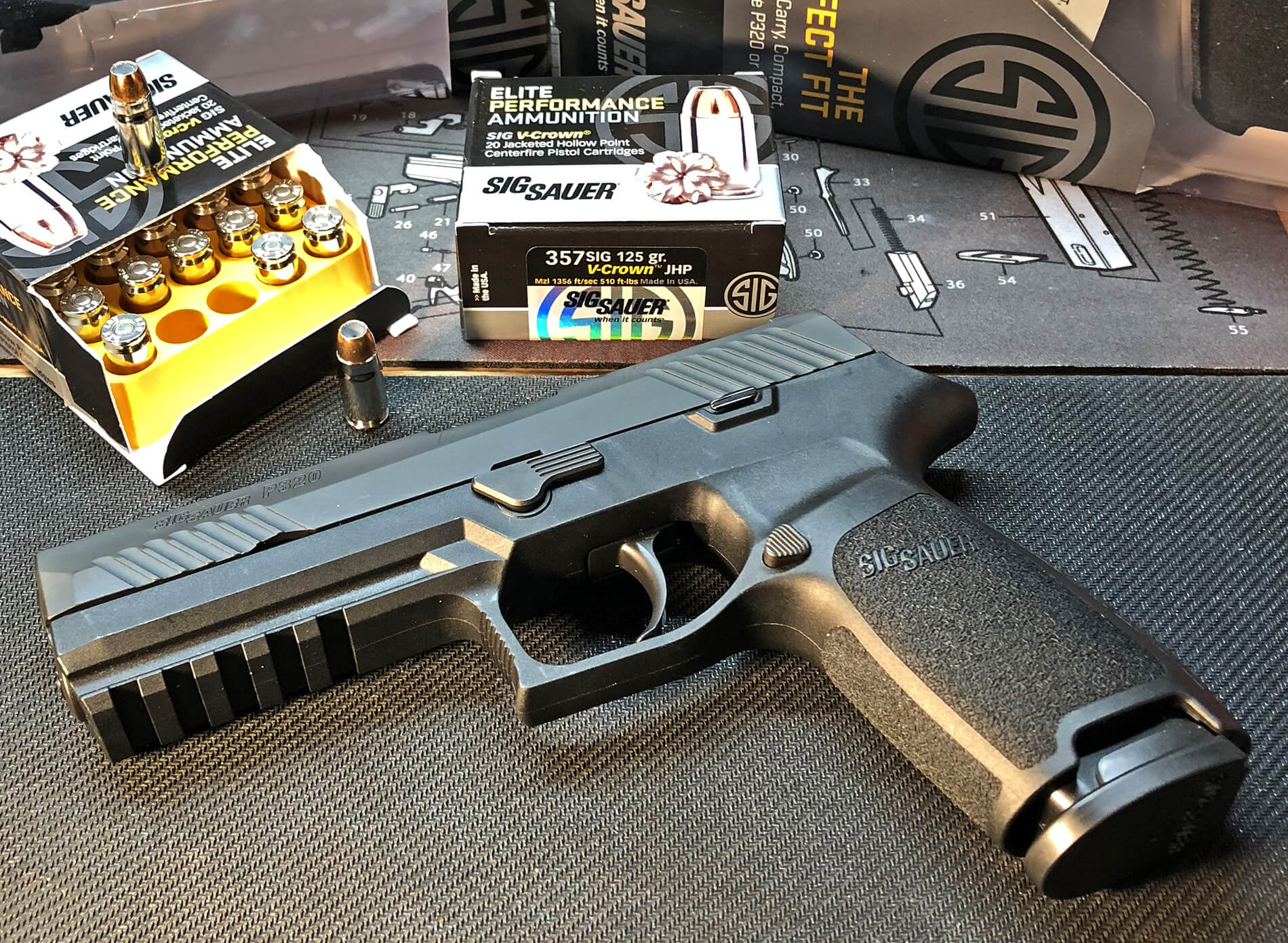 Sig P320 Nitron and 9mm ammo