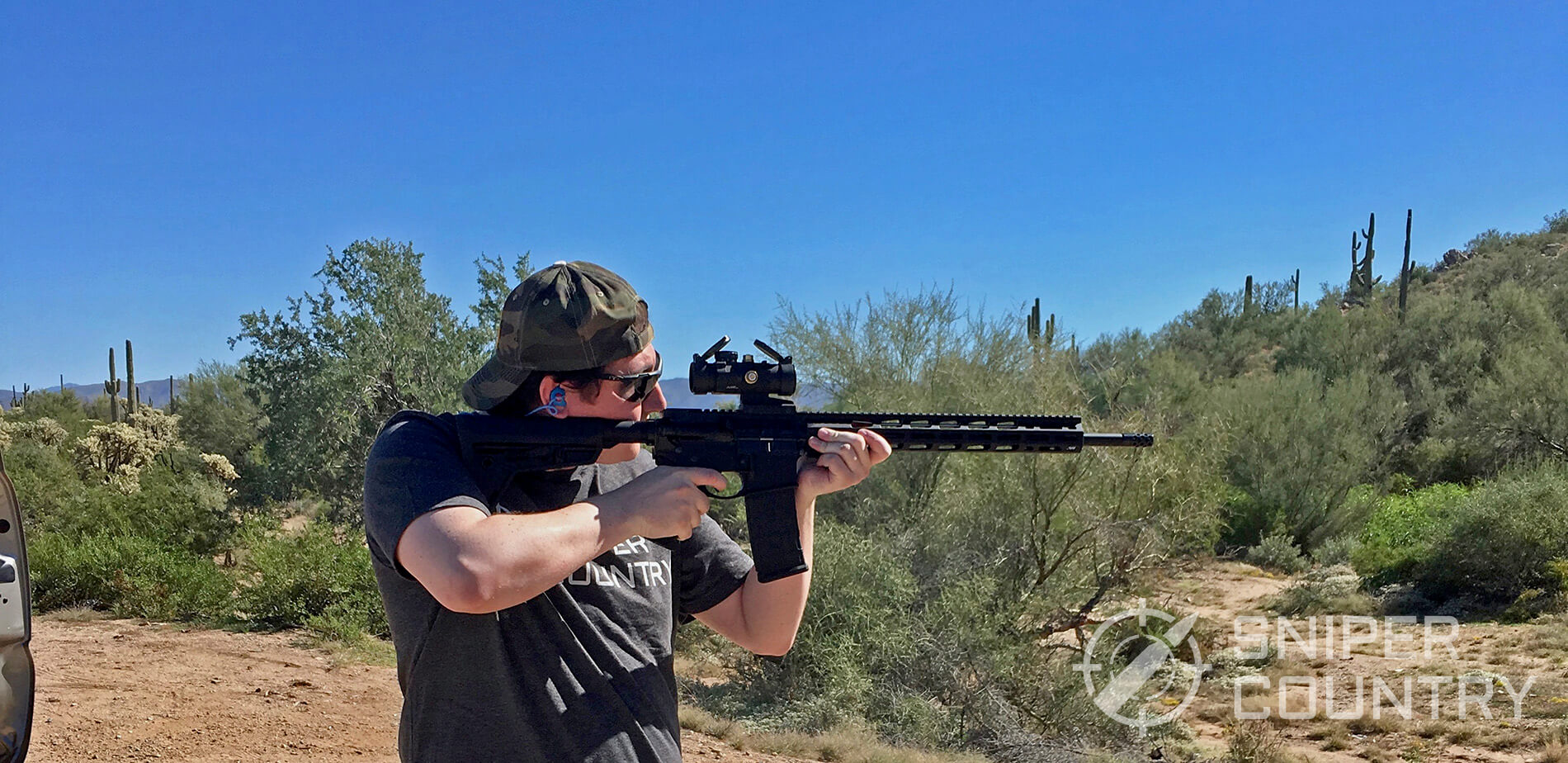 Author Shooting his AR-15