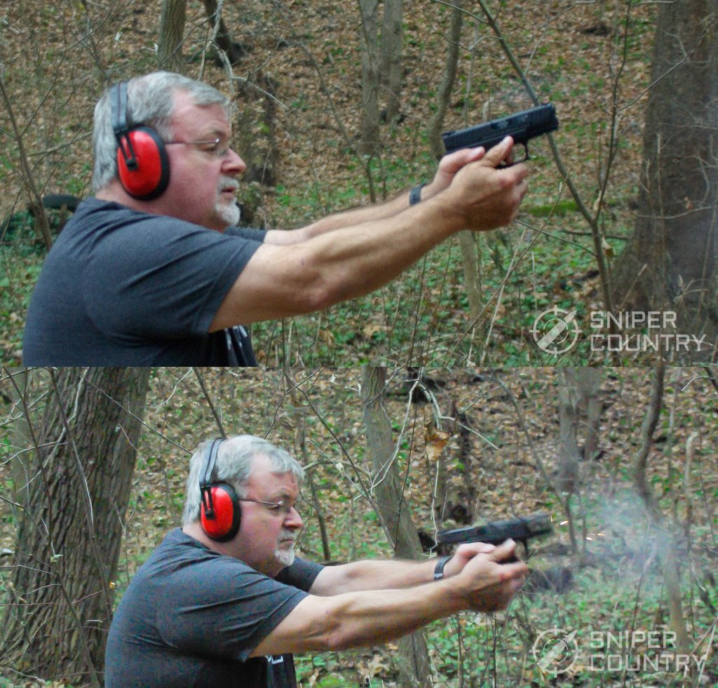 Mike shooting the Springfield XDM 3.8 Compact
