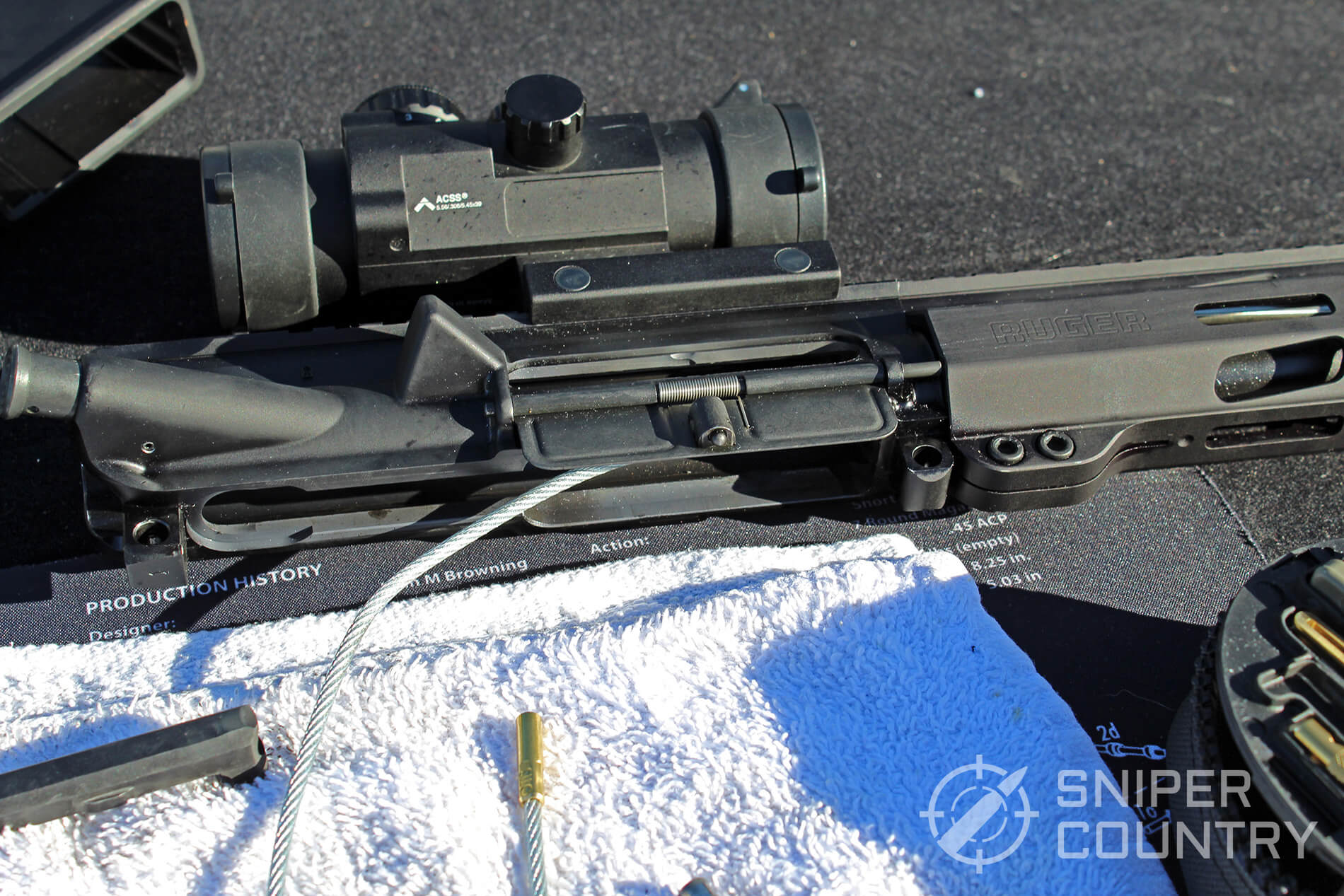 Otis AR Cable in AR-15 Upper Receiver