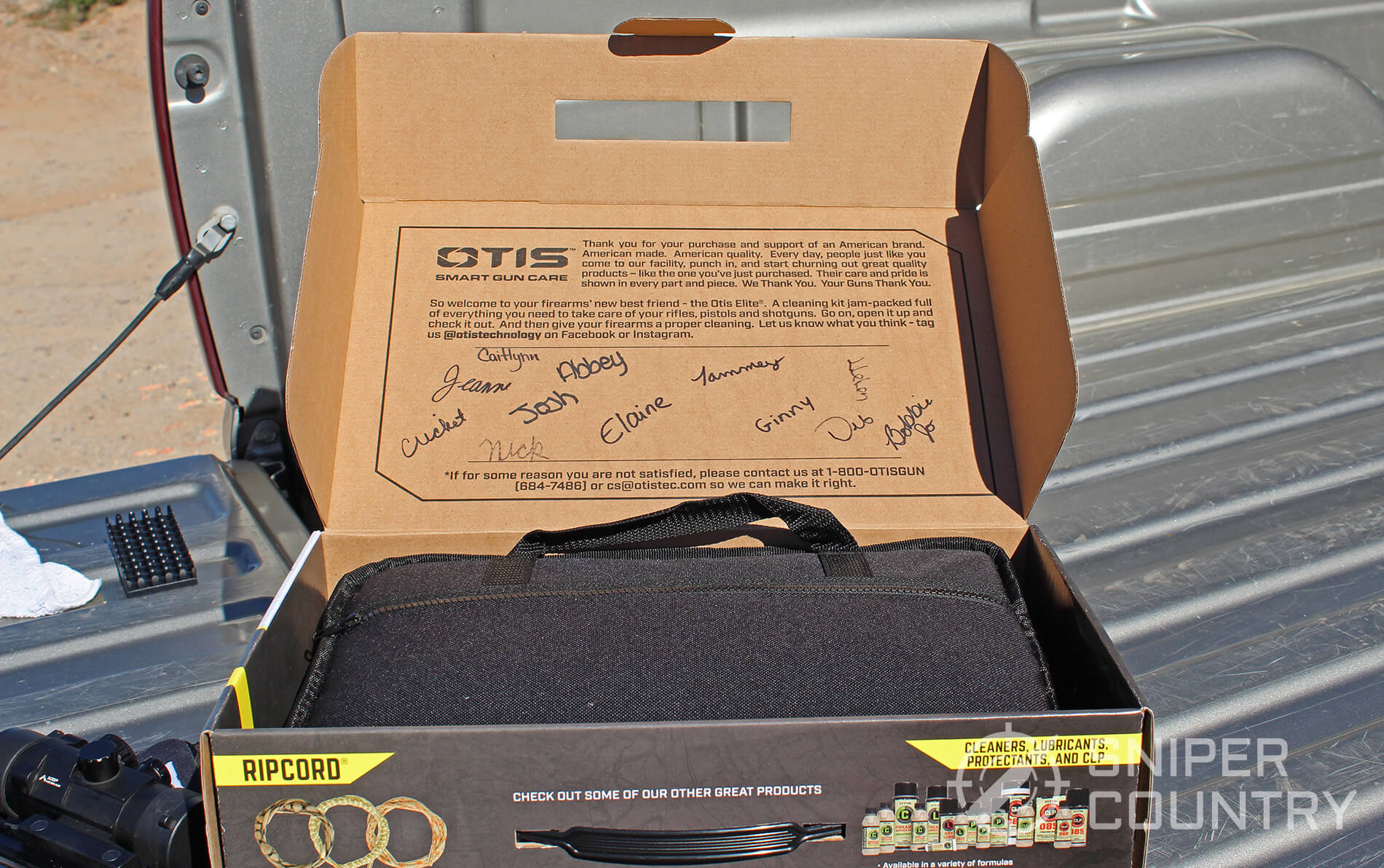 Otis Elite Open box with signatures