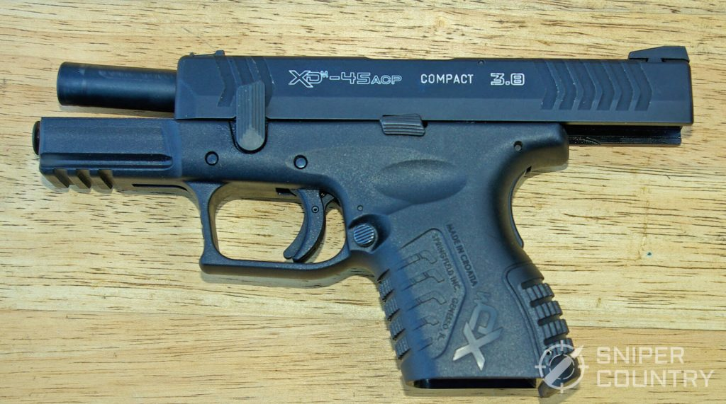 Springfield XDM 3.8 Compact Takedown Lever Up