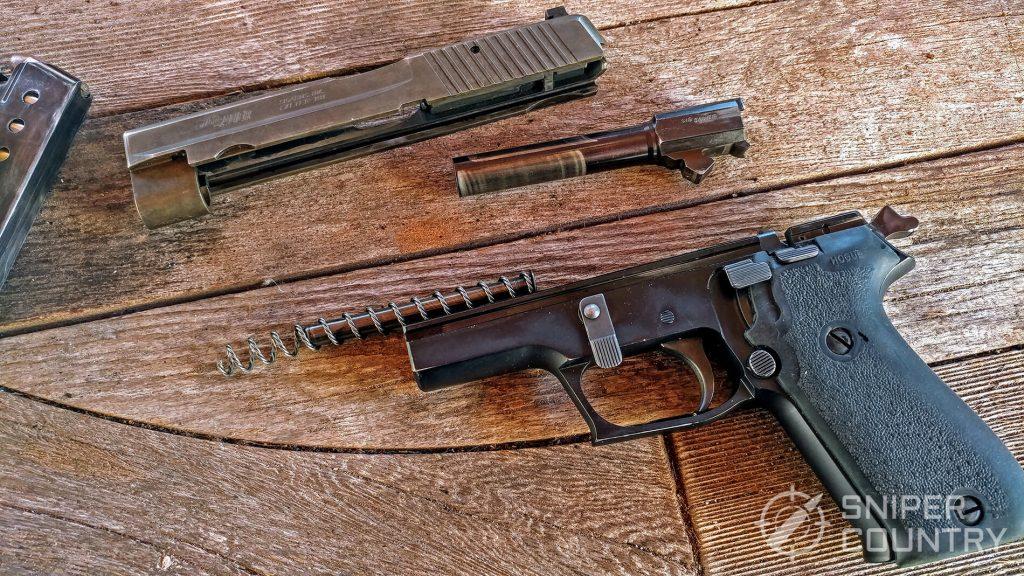 Sig Sauer P220 disassembeled