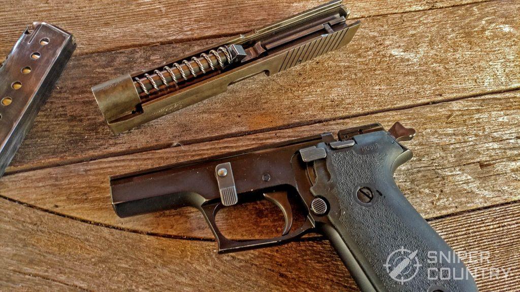 Sig Sauer P220 removed slide