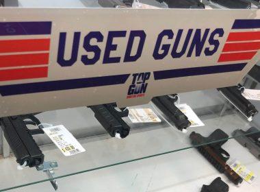 Used guns on shelf