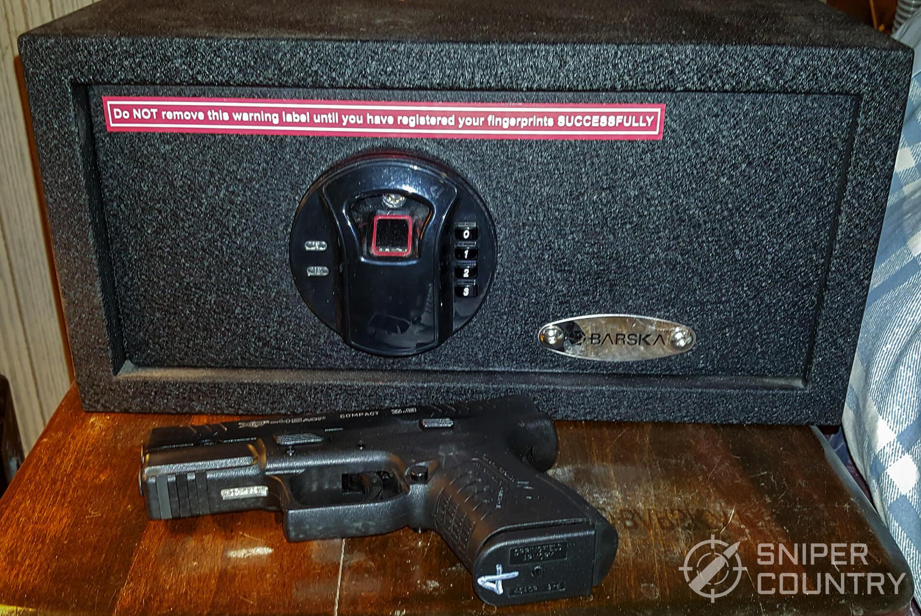 Barska Handgun Safe exterior