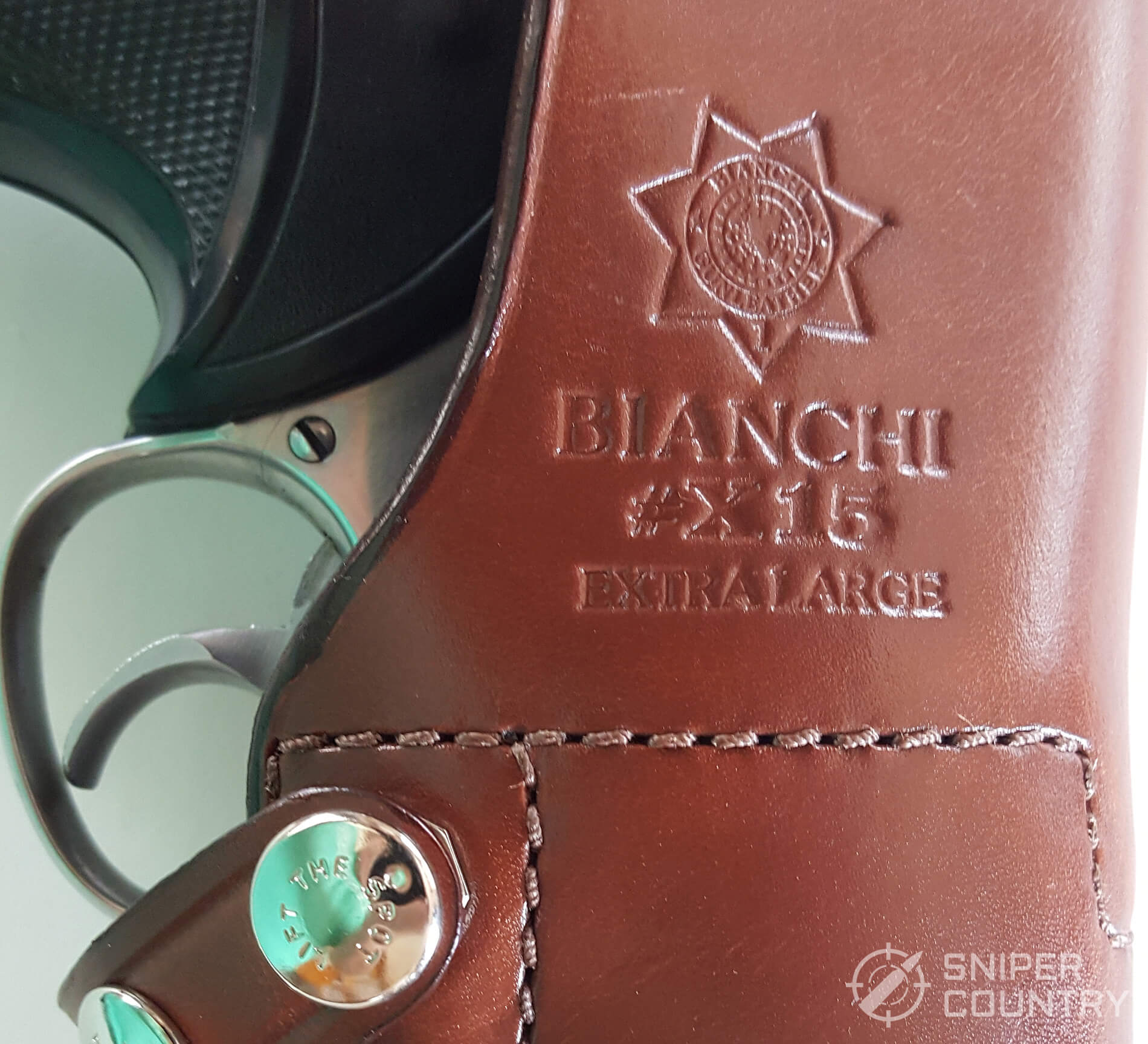 Bianchi X-15 Vertical Shoulder Holster trademark stamp