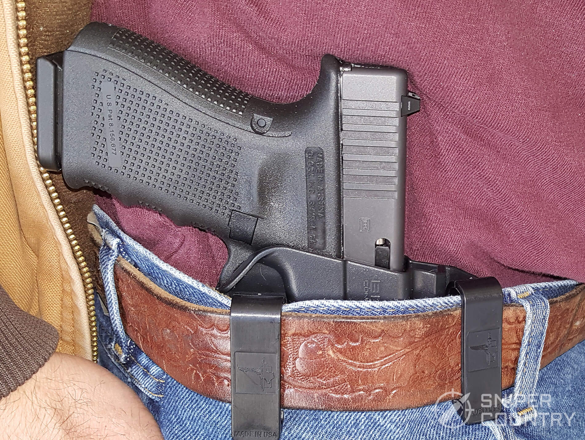 Bravo Concealment Torsion Holster 3.0 on belt