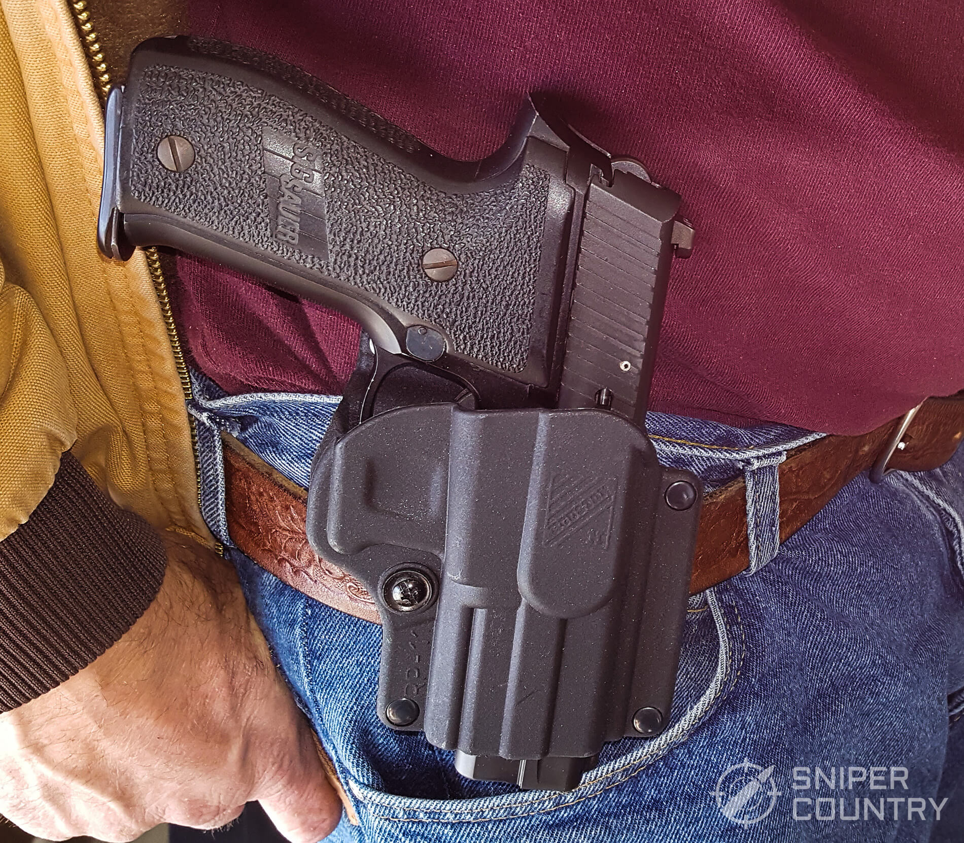 Houston Gun Holsters RP 11A Paddle on belt