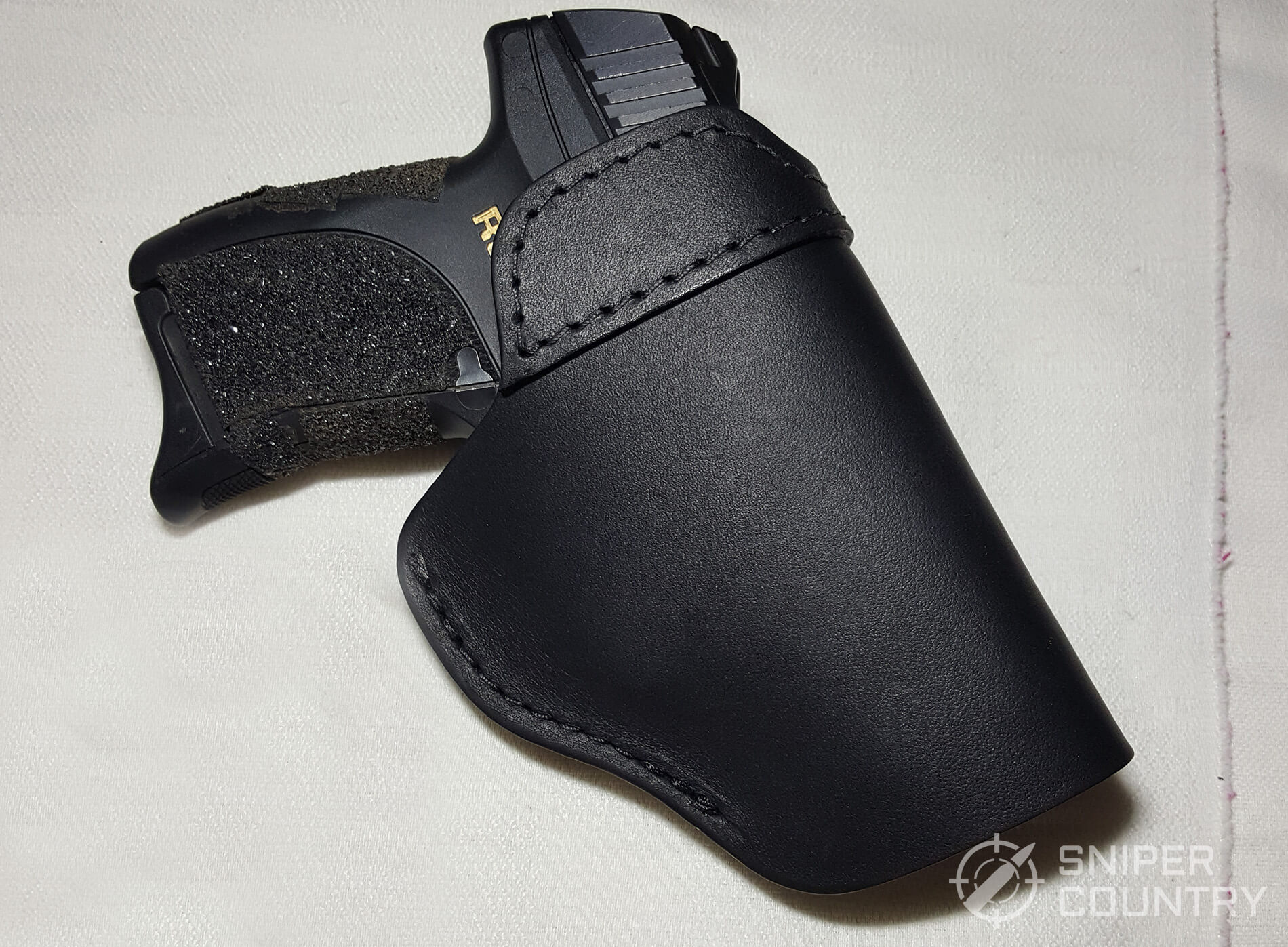 Relentless Tactical IWB Leather outside with gun