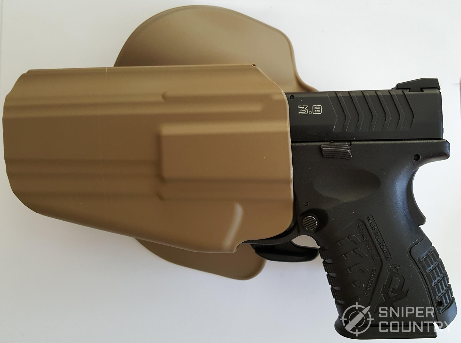 Safariland 578 GLS Pro-Fit Holster open side with Springfield XDm