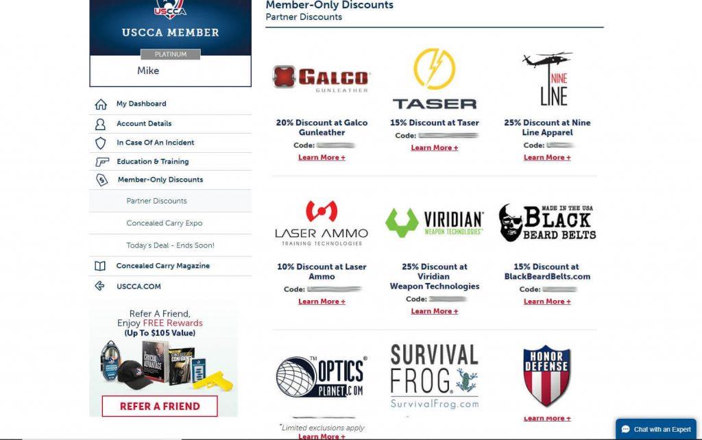USCCA Member Discounts