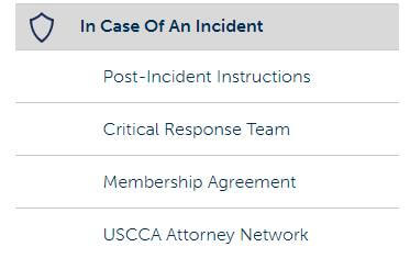 in case of an incident links