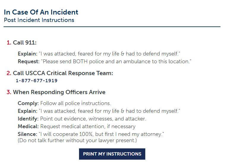 post-incident instruction