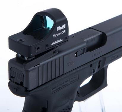 Glock's MOS plate replaced with red dot base