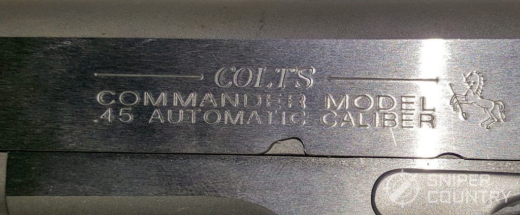 closeup left side slide engraving