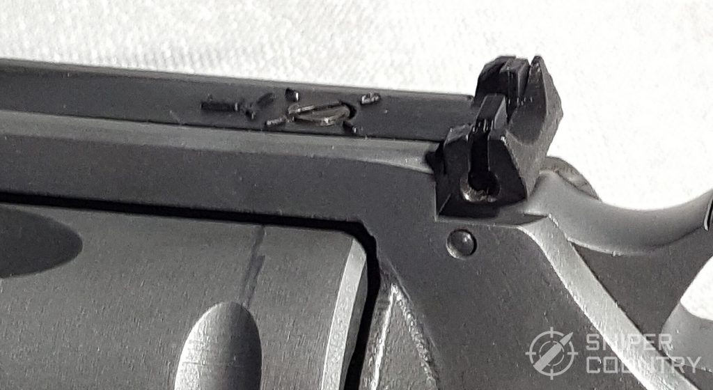 Pathfinder rear sight from side