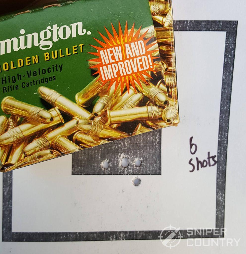 Remington Gold Ammo Grouping